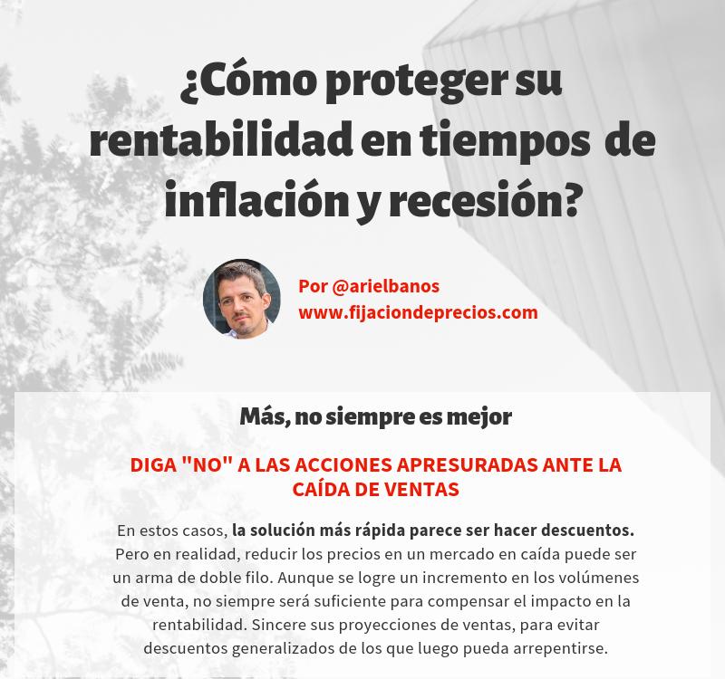 proteger su rentabilidad en tiempos de inflacion y recesion
